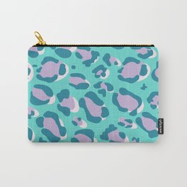 Blue/Lilac Leopard Carry-All Pouch