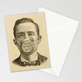 Masked man. Stationery Cards
