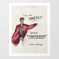 uther's issues. Art Print