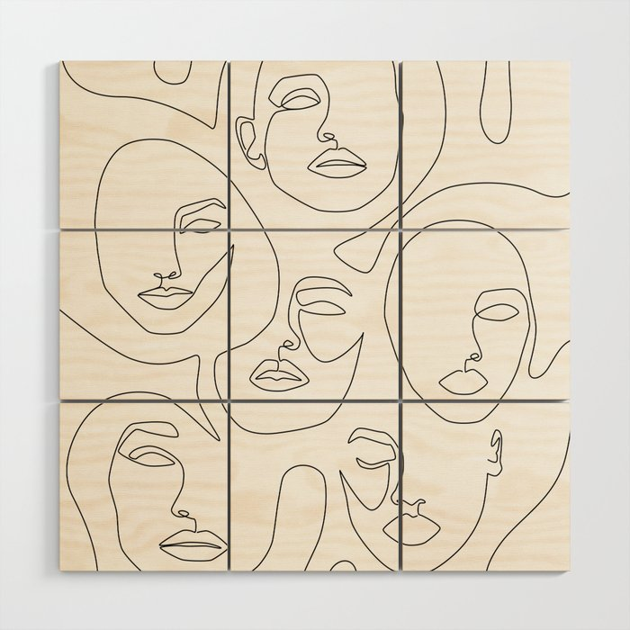 Her and Her Wood Wall Art