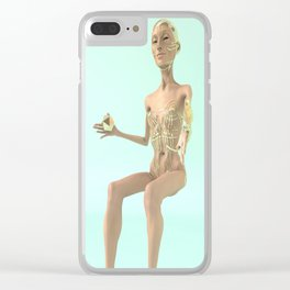 Cyborg Alien Mistress of the Icosahedron Clear iPhone Case