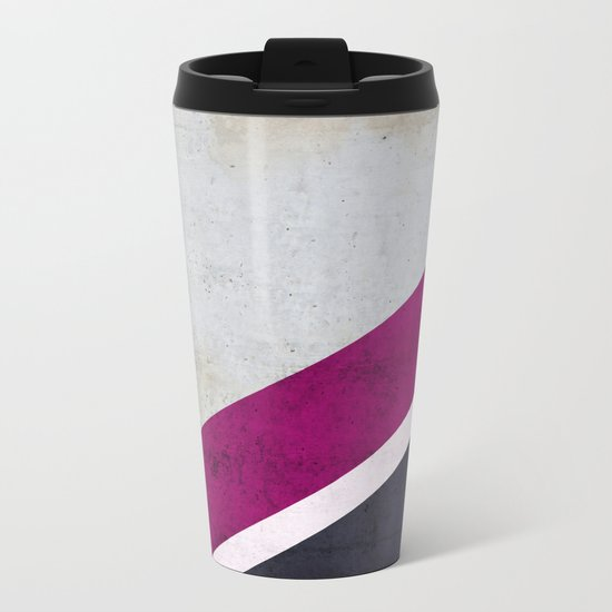 Concrete Shadows Metal Travel Mug
