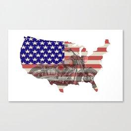 USA - Bike Rider Canvas Print