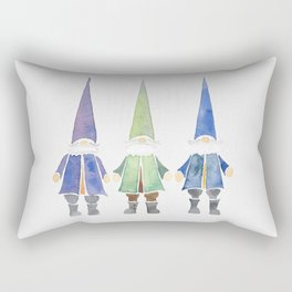 Three funny gnomes Rectangular Pillow