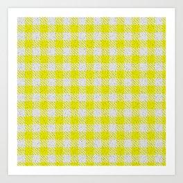Yellow Buffalo Plaid Art Print