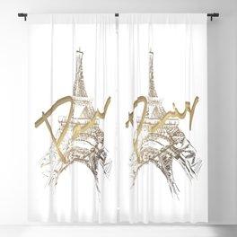 Paris Art Blackout Curtain