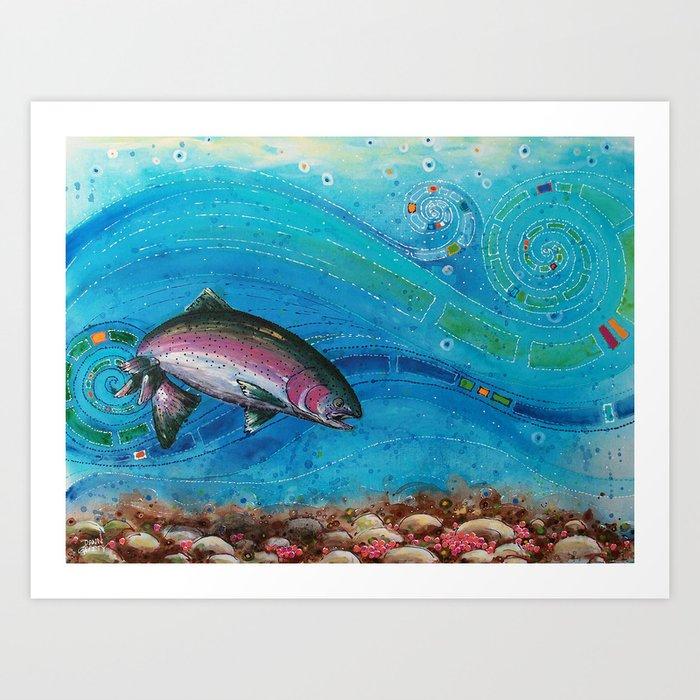 Gorging Rainbow Art Print