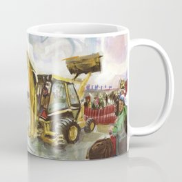 Blue whale on Second Beach, dissection with back-hoe, No. 4 - Middletown Coffee Mug