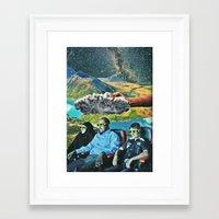 3d Framed Art Prints featuring 3D by Caroline A