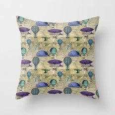 Around the World Vintage Throw Pillow