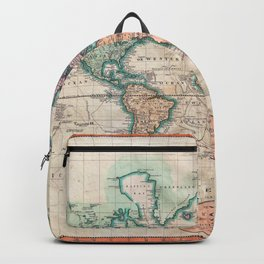 Vintage World Map 1801 Backpack