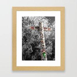 Totem Pole, Oregon, tribal art Framed Art Print