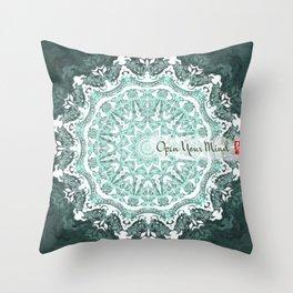 Mandala - Open Your Mind Throw Pillow