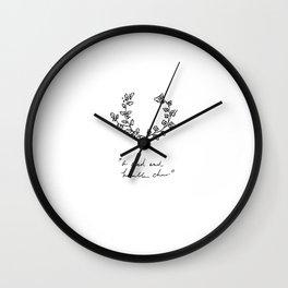 A Glad And Humble Cheer Wall Clock