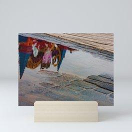 Reflection of the Street Water Mini Art Print