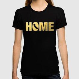 California home state faux gold foil print T-shirt