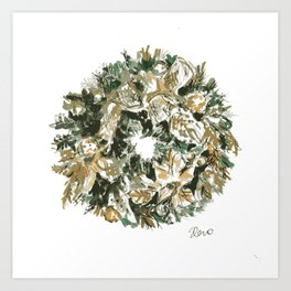 Christmas Wreath 2019 Art Print