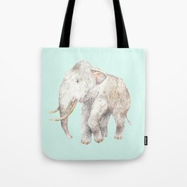 Woolly Mammoth Watercolor Mastodon Painting Tote Bag