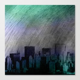 cityscape and colored sky -1- Canvas Print