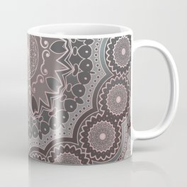 Mandala Spirit, Rose Pink, Gray Coffee Mug