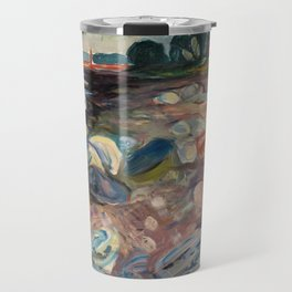 Shore with Red House by Edvard Munch Travel Mug