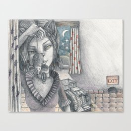 Cat metamorphosed Canvas Print