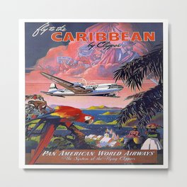 Vintage poster- Caribbean Metal Print