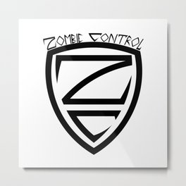 Zombie Control Logo Metal Print