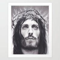christ Art Prints featuring Christ by Brittni DeWeese