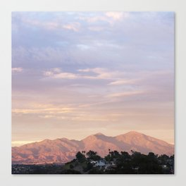Sunset over Saddleback Mountain Canvas Print