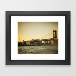 Golden Empire Framed Art Print