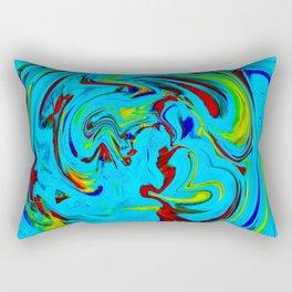 Floating through life Rectangular Pillow
