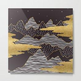 Gold Mountain Peaks Metal Print