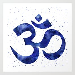 Ohm Symbol Blue Art Print