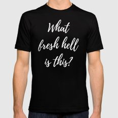 What Fresh Hell Is This? - blue-green Mens Fitted Tee Black MEDIUM
