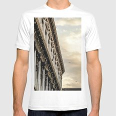Venice Sunset in St. Marks Mens Fitted Tee MEDIUM White