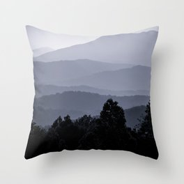 Misty morning at the Smoky's Throw Pillow