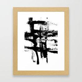 Brush Stroke Art Framed Art Print