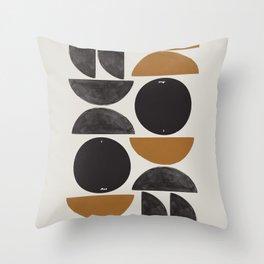 Geometry Shape Mid Century Organic Art Print Throw Pillow