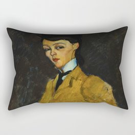 "Amedeo Modigliani ""L'Amazone"" Rectangular Pillow"