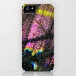 Labradorite and All it's Colors Blue Pink Yellow Purple Flash Magic Vibrant Abundance iPhone Case