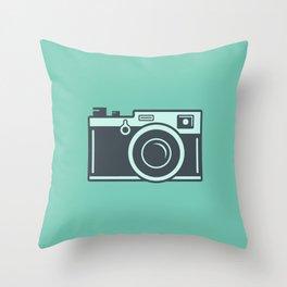 Camera Illustration Throw Pillow