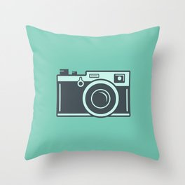 Camera Illustration Throw Pillow