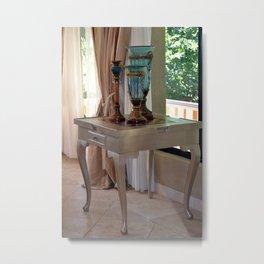 Interior Decor White Table Metal Print
