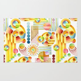 Abstract Art Deco Rug