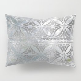Silver glitter pattern on mother of pearl Pillow Sham