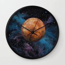Mars and Stars Wall Clock