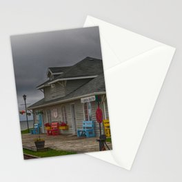 Abandoned train station Stationery Cards
