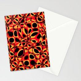 orange red circle pattern Stationery Cards