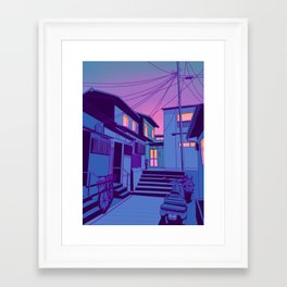 Kyoto Alley Framed Art Print